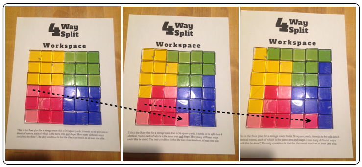 An approach to solving the 4 way split problem